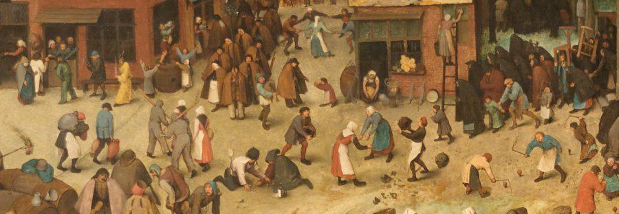 Le combat de Carnaval et de Carême Pieter Brueghel l'Ancien (extrait)